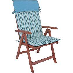 Hochlehner összecsukható kerti szék, eukaliptuszból, kék ülőpárnával - ADDU
