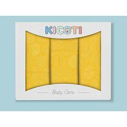 Honeycomb 3 darabos sárga pólyakészlet bambusz viszkózból, 75 x 75 cm - KICOTI
