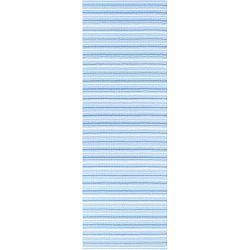 Hullo kék-fehér bel-/kültéri futószőnyeg, 70 x 300 cm - Narma