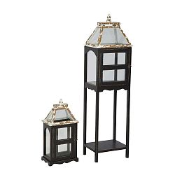 Hut fekete lámpás fenyőfa konstrukcióval, 2 darab - Mauro Ferretti