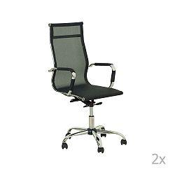 Jane 2 darabos fekete irodai szék készlet - Evergreen House