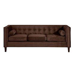 Jeronimo háromszemélyes barna színű kanapé - Max Winzer