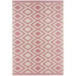 Kalora rózsaszín-szürke szőnyeg bel- és kültéri használatra, 140 x 200 cm - Bougari