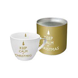Keep Calm At Christmas porcelán bögre karácsonyi motívummal, díszdobozban, 200 ml - PPD