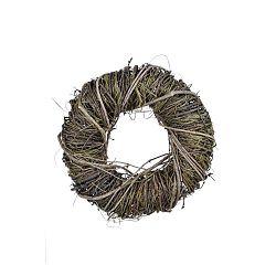 Kerek dekorációs koszorú vesszőből és száraz füvekből, ⌀ 24 cm - Ego Dekor