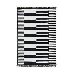 Klotho fekete-fehér kétoldalas szőnyeg, 120 x 180 cm