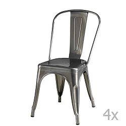Korona 4 darabos szürke székkészlet - Furnhouse