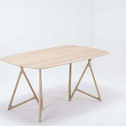 Koza tömör tölgyfa étkezőasztal, 160 x 90 cm - Gazzda