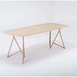 Koza tömör tölgyfa étkezőasztal, 220 x 90 cm - Gazzda