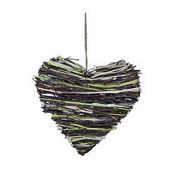 Levand szívformájú dekorációs koszorú, ⌀ 25 cm - Ego Dekor