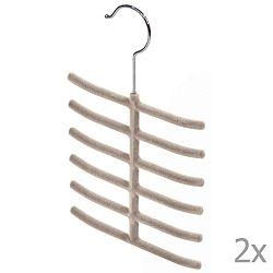Living 2 darab bézs nyakkendőtartó - Domopak