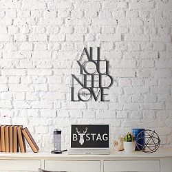 Love fém fali dekoráció, 50 x 39 cm