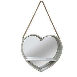 Love szív alakú akasztós tükör polccal, Ø 43,5 cm - Mauro Ferretti