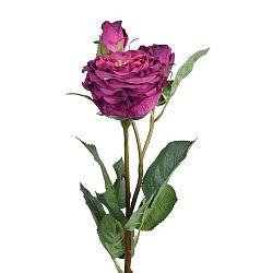 Művirág, piros rózsa - Ego Dekor
