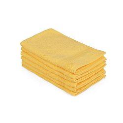 Madame Coco Lento Amarillo 6 darabos sárga pamut törölköző szett, 30 x 50 cm