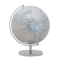 Mappamondo Silver dekoratív földgömb, ⌀ 25 cm - Mauro Ferretti