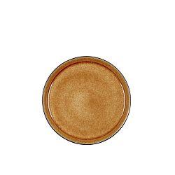 Mensa okkersárga agyagkerámia desszertes tányér, átmérő 21 cm - Bitz