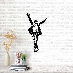 Michael Jackson fekete fém fali dekoráció, 36 x 69 cm