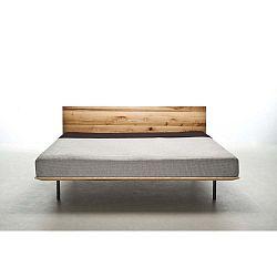 Modo olajkezelt kőrisfa ágy, 200 x 200 cm - Mazzivo