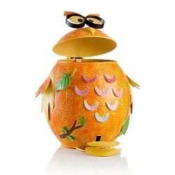Narancssárga vas bagoly alakú szemétkosár - Brandani