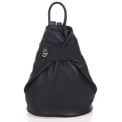 Narni fekete, bőr hátizsák - Lisa Minardi