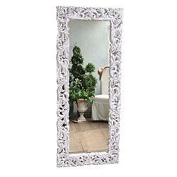 Natural fehér fali tükör mangófából - Orchidea Milano