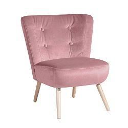 Neele Velvet rózsaszín fotel - Max Winzer