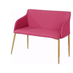 Nimbus rózsaszín ülőpad fa lábakkal - Støraa