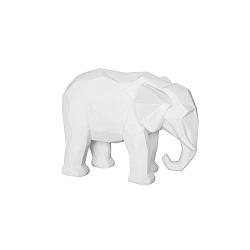 Origami Elephant matt fehér szobor - PT LIVING