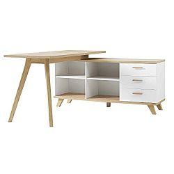 Oslo íróasztal fehér tárolóasztallal - Germania