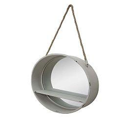 Oval akasztós tükör polccal, Ø 50 cm - Mauro Ferretti