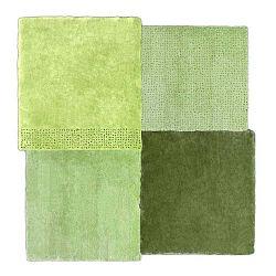 Over Square zöld szőnyeg, 200 x 207 cm - EMKO