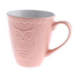 Owl rózsaszín kerámia bögre, 530 ml - Dakls
