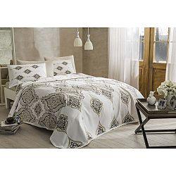Penelope Cream pamut ágytakaró, lepedő és 2 párnahuzat szett, 200 x 230 cm
