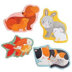 Pets 4 részes gyermek puzzle - Petit collage