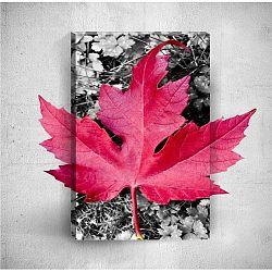 Pink Leaf 3D fali kép, 40 x 60 cm - Mosticx