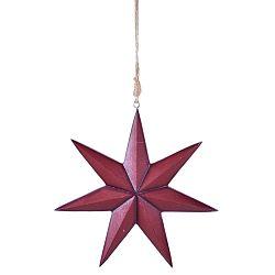Piros felfüggeszthető csillag, magassága 21 cm - Ego Dekor