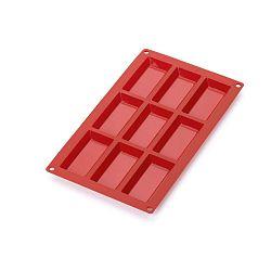 Piros szilikon sütőforma, 9 mini rekeszes - Lékué