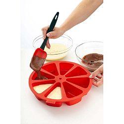 Piros többrekeszes szilikon torta sütőforma, ⌀ 26,5 cm - Lékué