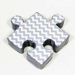 Puzzle ZygZag szürke kispárna - K-ID