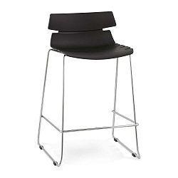 Reny fekete bárszék, ülésmagassága 64 cm - Kokoon