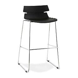 Reny fekete bárszék, ülésmagassága 77 cm - Kokoon