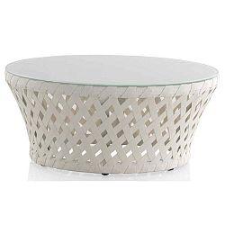 Ribbon fehér kerti dohányzóasztal, ⌀ 80 cm - Geese