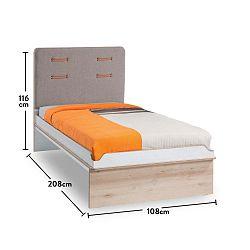 Richard egyszemélyes ágy, 108 x 208 cm - Unknown