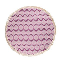 Ripple lila hammam fürdőlepedő pamutból és bambuszrostból, ⌀ 150 cm - Begonville