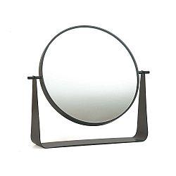 Sötétszürke elfordítható asztali tükör, Ø 38 cm - HARTÔ