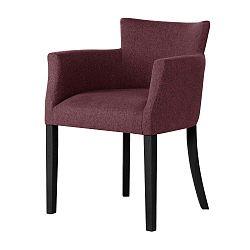 Santal téglavörös bükk szék fekete lábakkal - Ted Lapidus Maison