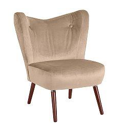 Sari Velvet bézs fotel - Max Winzer
