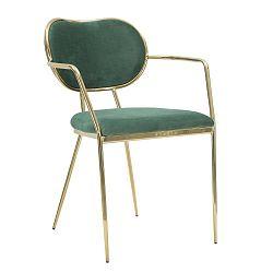 Sedia Glam sötétzöld szék vas konstrukcióval - Mauro Ferretti