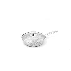 Serpenyő fedővel és ezüstszínű nyéllel, Ø 20 cm - Bisetti